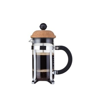 Bodum CHAMBORD French Press Coffee Maker, 12 oz, 0.35 L, 3 Cup, Cork