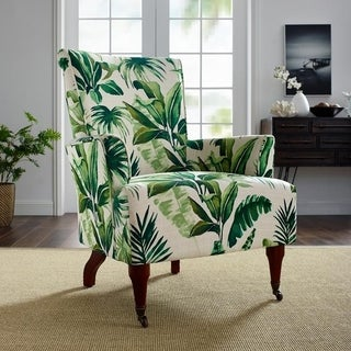 Garden Leaf Cream/Green Arm Chair