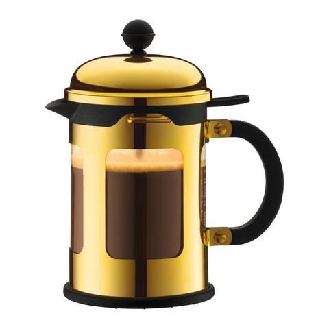 Bodum CHAMBORD French Press Coffee Maker, 17 oz, 0.5 L, 4 Cup, Gold