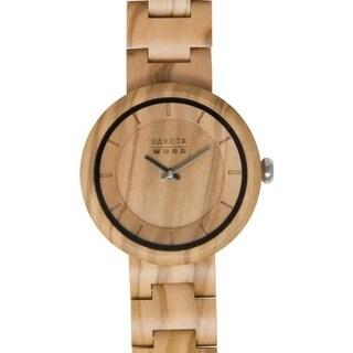 Dakota Genuine Hardwood Watch with Adjustable Link Band