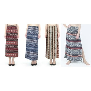 INDERO Women's Printed Maxi Skirts