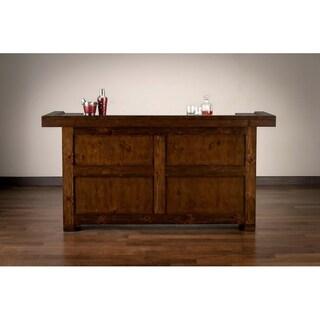 Rockford Weathered Brown Wood Rustic Home Bar
