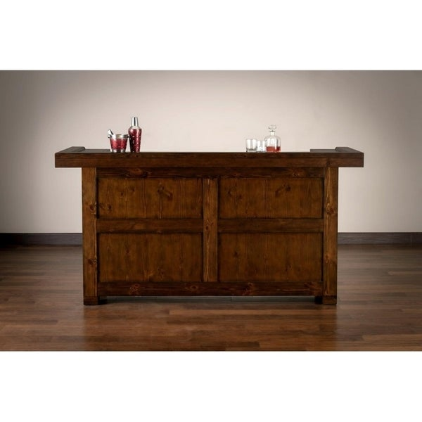Rockford Weathered Brown Wood Rustic Home Bar On Free Shipping Today 23432774