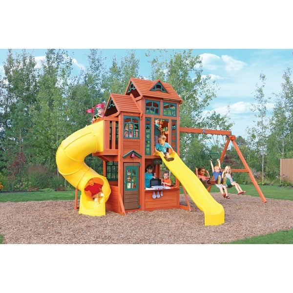 Shop Kidkraft Canyon Ridge Wooden Playset Free Shipping Today