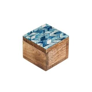 Handmade Artemis Keepsake Box - Indigo (India)