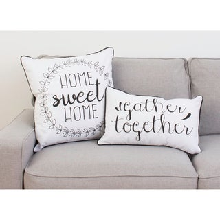 """20"""" Haroley Home Sweet Home Wreath Pillow"""