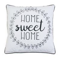 "20"" Haroley Home Sweet Home Wreath Pillow"