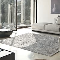 Superior Elegant, Plush, Hand-Woven Silver Shag Rug - 3' x 5'