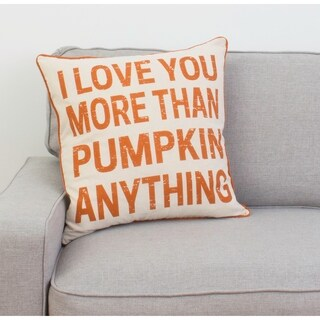 "20"" I Love You More Than Pumpkin Anything Pillow"