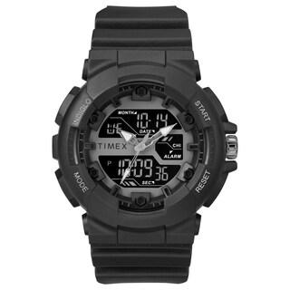 Timex Men's TW5M22500 HQ DGTL Sporty Combo Black/Negative Resin Strap Watch