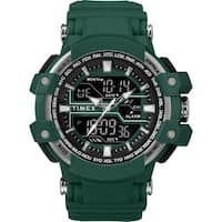Timex Men's TW5M22800 Tactic DGTL Big Combo Marine Green/Gray Resin Strap Watch - N/A