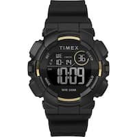 Timex Unisex TW5M23600 Mako DGTL Digital 44mm Black/Gold-Tone Silicone Strap Watch