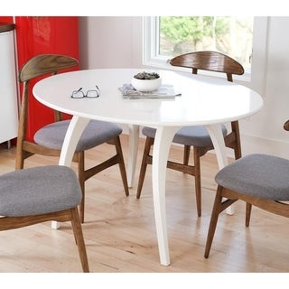 Posh Pollen White Oval Conference Table by Hives & Honey - White