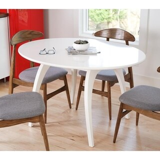 Haven Home White Oval Conference Table by Hives & Honey - White
