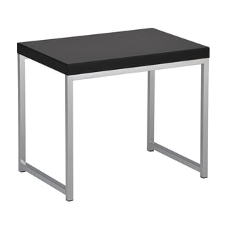 Wall Street End Table in Chrome and Black Finish