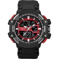 Timex Men's TW5M22700 Tactic DGTL Big Combo Black/Gray/Red Resin Strap Watch