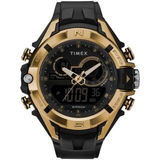 Timex Men's TW5M23100 Guard DGTL Bold Combo Black/Gold-Tone Resin Strap Watch