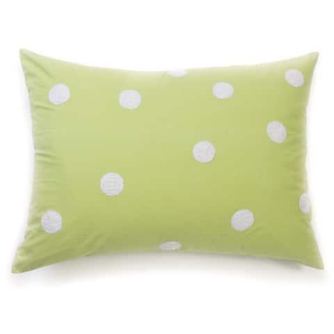 Lime Dot Standard Sham
