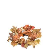"Autumn Pumpkin & Berry Accent Ring - 16""l x 4""w x 16""h"