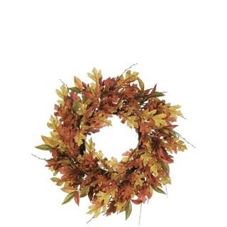 "Autumn Mixed Leaf Wreath - 27""l x 6""w x 27""h"