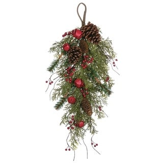 "Pine, Bell, & Berry Swag - 18""l x 6""w x 28""h"