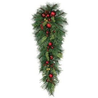 "Pine with Ornaments Swag - 15""l x 8""w x 36""h"
