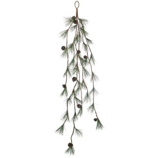 """Pine with Cones Garland - Green, Brown - 10""""l x 10""""w x 50""""h"""