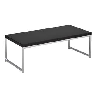Wall Street Coffee Table in Chrome and Black Finish