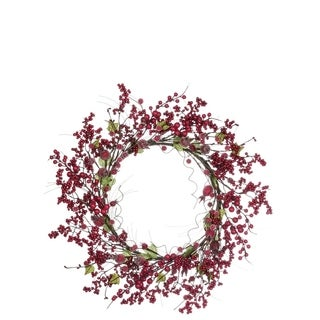 """Frosted Berry Wreath - 24""""l x 5""""w x 24""""h"""