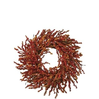 "Harvest Berry Wreath - 25""l x 9""w x 25""h"