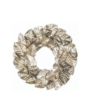 "Pewter Magnolia Leaf Wreath - 22""l x 3""w x 22""h"