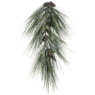 "Iced Long Needle Pine & Cone Swag - 18""l x 11.5""w x 30""h"