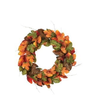 "Autumn Large Leaf Wreath - 33""l x 8""w x 33""h"