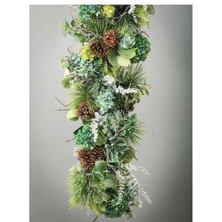 "Icy Branch Garland - brown, white - 6'l x 8""w x 6""h"