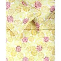 Printed Design Cotton Collection 400 Thread Count Orange/Yellow Lemon Lime Duvet Set