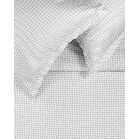 Printed Design Cotton Collection 400 Thread Count Grey Houndstooth Duvet Set