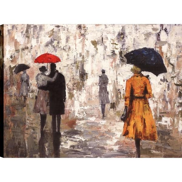 Shop ArtMaison Canada \'Umbrella Rainy Day I\' Canvas Print Wall Art ...