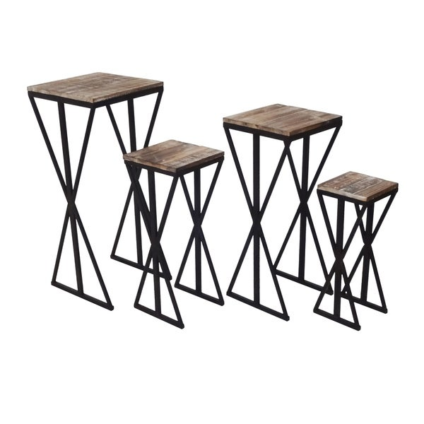 shop jeco brown steel 4 piece plant stand set free shipping today Storage Crates shop jeco brown steel 4 piece plant stand set free shipping today overstock 23433918