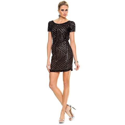 Sara Boo Geo Sequined Dress