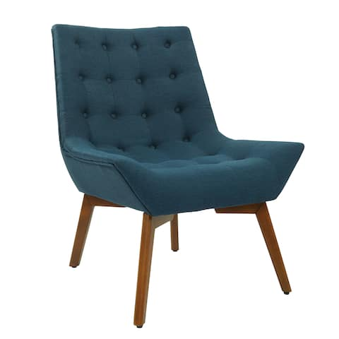 OSP Home Furnishings Shelly Tufted Chair with Coffee Legs