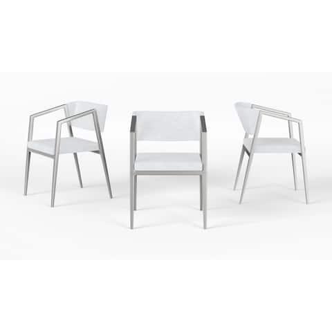 B-Modern Social Armchair- White/Stainless Steel