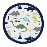 Sweet Jojo Designs Blue and Green Dino Mod Dinosaur Collection Baby Tummy Time Playmat