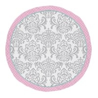 Sweet Jojo Designs Pink, Turquoise and Gray Damask and Polka Dot Skylar Collection Baby Tummy Time Playmat