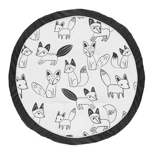 Sweet Jojo Designs Arrow Baby Tummy Time Playmat for the Black and White Fox Collection