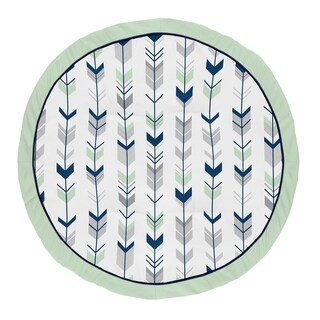 Sweet Jojo Designs Navy Blue, Mint and Grey Woodland Arrow Woodsy Collection Baby Tummy Time Playmat