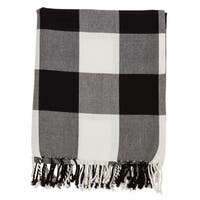 Buffalo Plaid And Tassels Cotton Throw