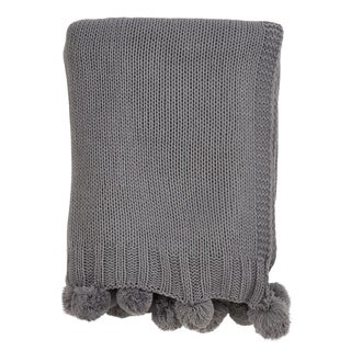 Link to Knitted Throw with Pom Pom Design Similar Items in Blankets & Throws