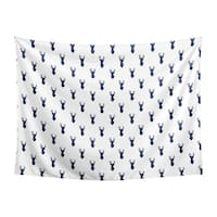 Sweet Jojo Designs Navy Blue and White Stag Woodland Deer Collection Wall Decor Tapestry (60in. x 80in.)