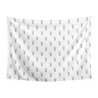 Sweet Jojo Designs Grey and White Stag Woodland Deer Collection Wall Decor Tapestry (60in. x 80in.)