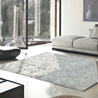 Superior Elegant, Plush, Hand-Woven White Shag Rug - 3' x 5'